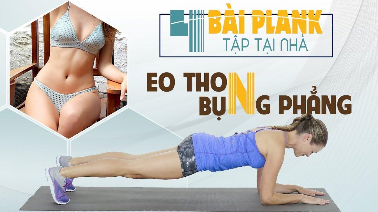 4 động tác plank giảm mỡ eo thon bụng phẳng tại nhà
