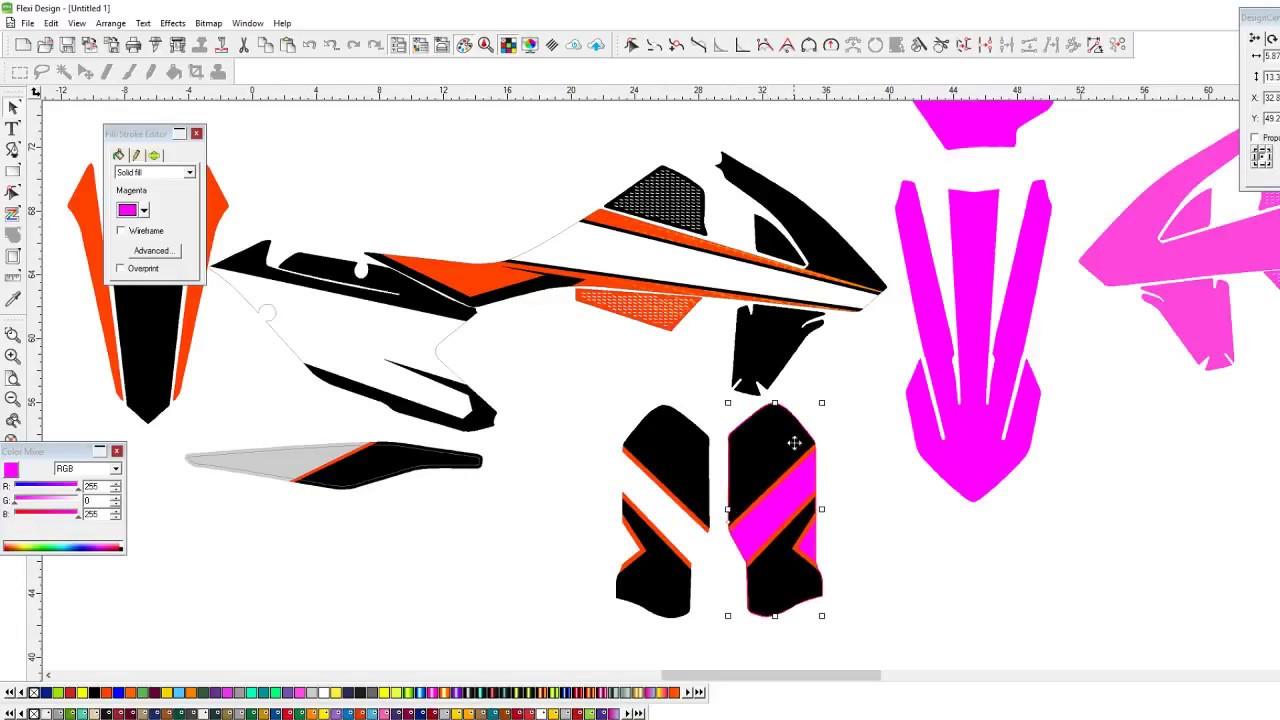Motocross Graphics Full Design Ktm 450 Sx Kit In Vector