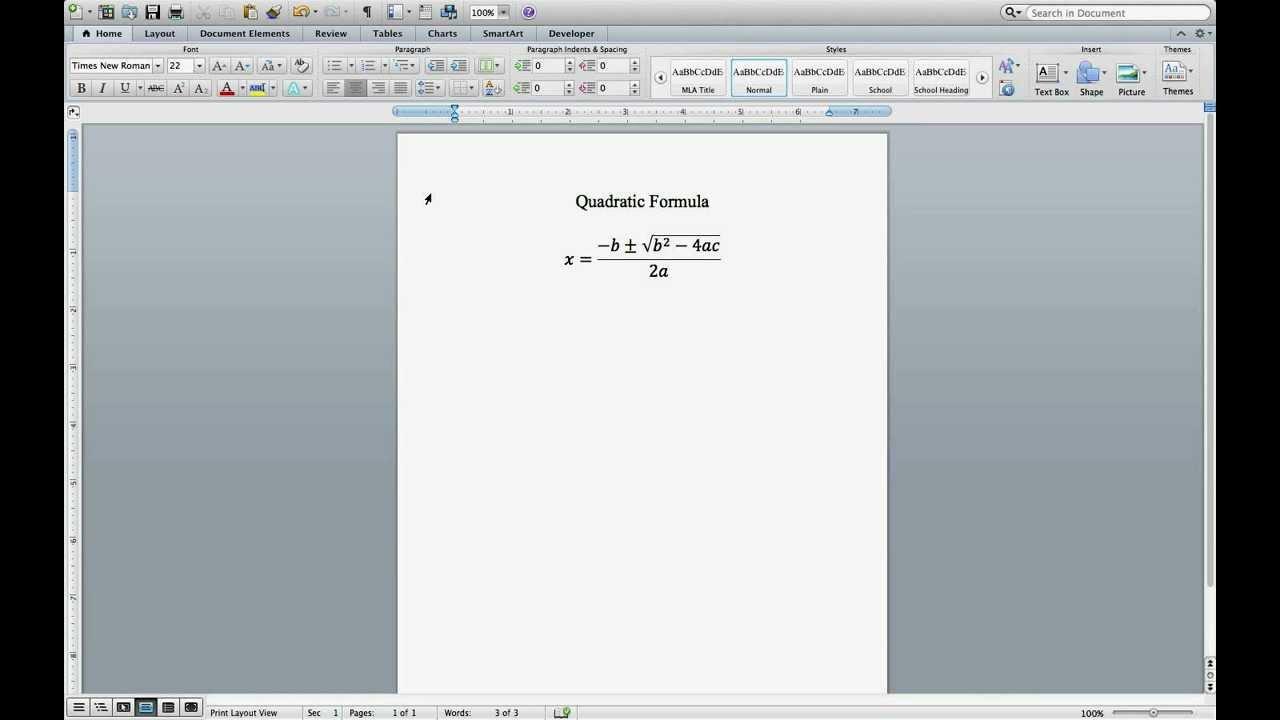 Equation Editor YouTube