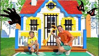 سينيا وأبي في التحدي الغامض للأطفال