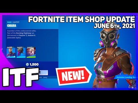 Fortnite Item Shop *NEW* CHIARA SET! [June 6th, 2021] (Fortnite Battle Royale)