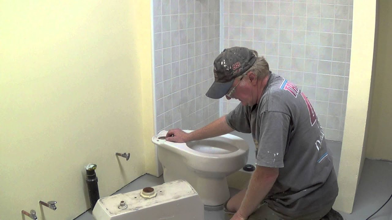 toilet plumbing diy diy basement bathroom part 10 installing toilet