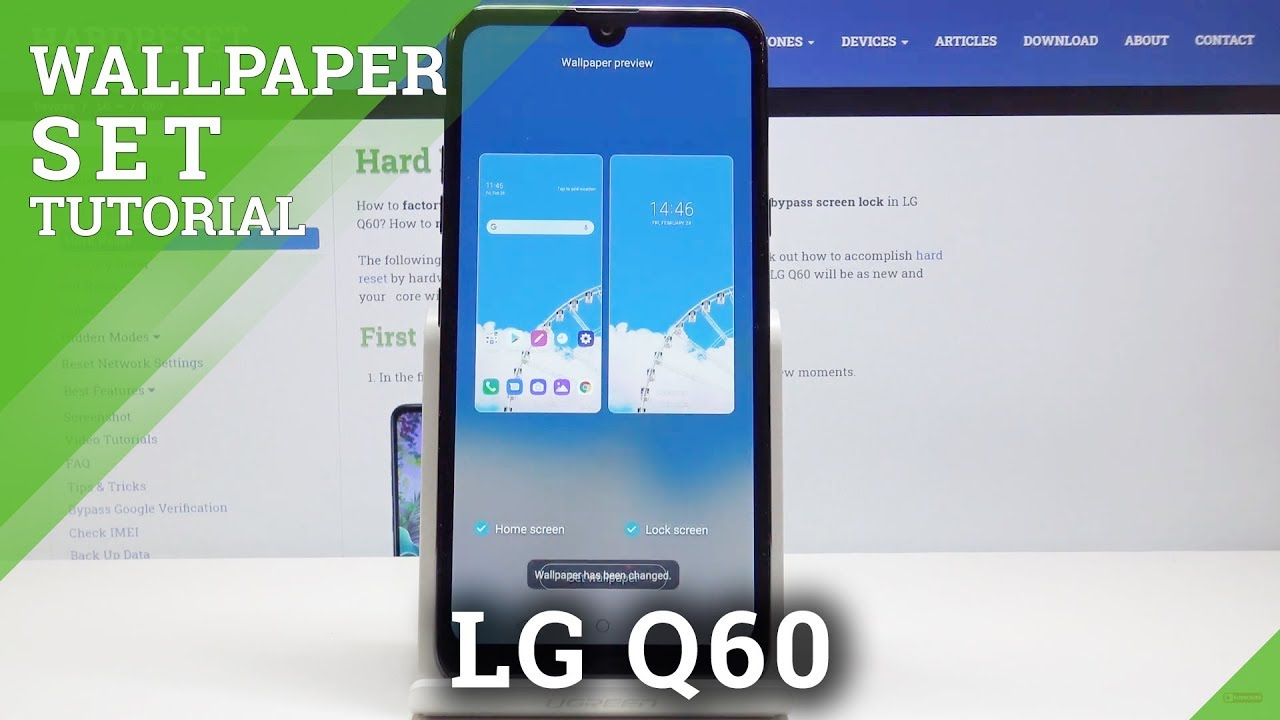 How to Change Wallpaper in LG Q60