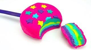 Пластилин для детей, лепим морожено из пластилина плей до. Учимся лепить, учим цвета и формы