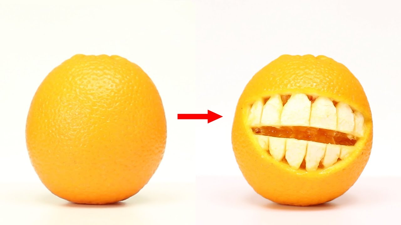 10 AMAZING ORANGE EXPERIMENTS AND EDIBLE TRICKS