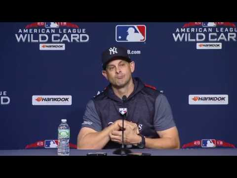 Aaron Boone Wild Card press conference