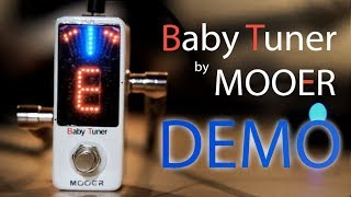 Baby Tuner Pedal by MOOER Demo ft. Thomas Heart