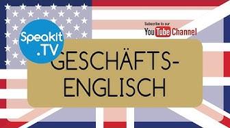 Geschäftsenglisch | 1) CORPORATE MANAGEMENT - GESCHÄFTSLEITUNG | Speakit.tv (52099-01)