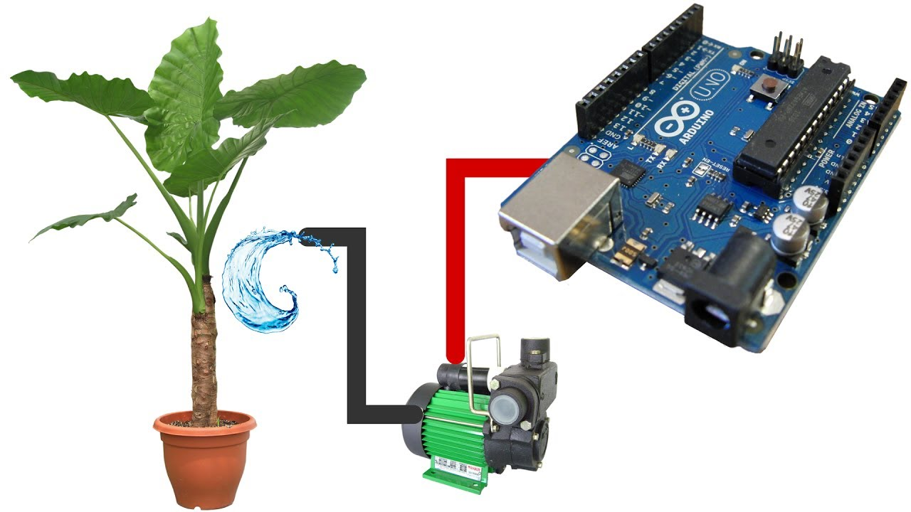 hight resolution of automatic watering system for plants using arduino