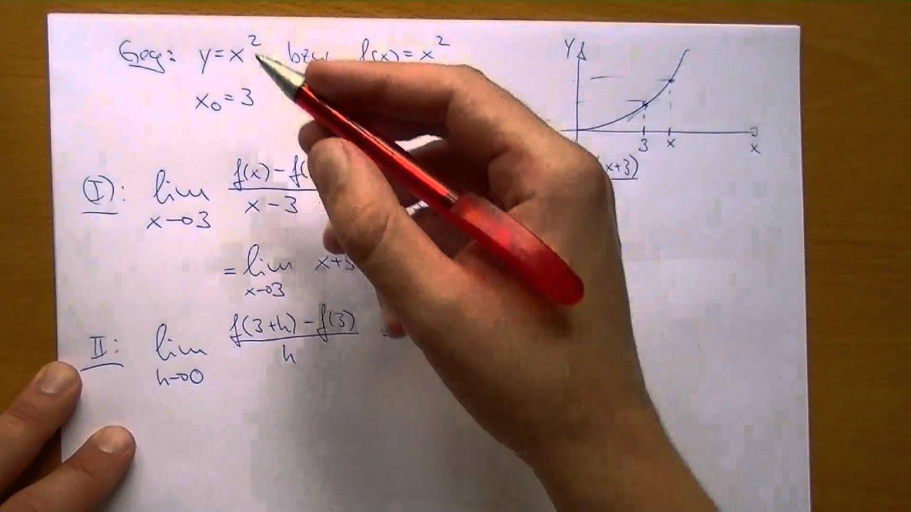 Beispiel: h-Methode und Differentialquotient, Differenzenquotient ...