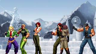 The King of Fighters XI (PlayStation 2) Arcade Play as Agents Team