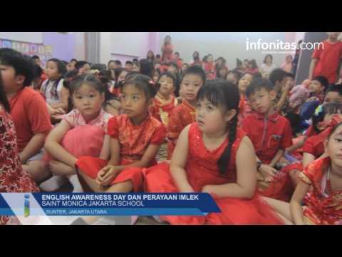 English Awareness Day & Perayaan Imlek di Saint Monica Jakarta School - infonitas.com