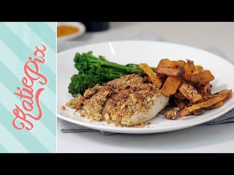 Super Food Fish & Sweet Potato Wedges Recipe   #AD   Katie Pix