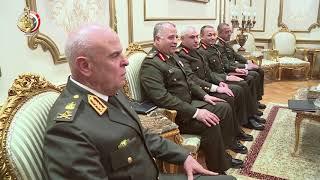 صدقي صبحي يستقبل رئيس مجلس الوزراء ووزير الدفاع الأردني (فيديو)