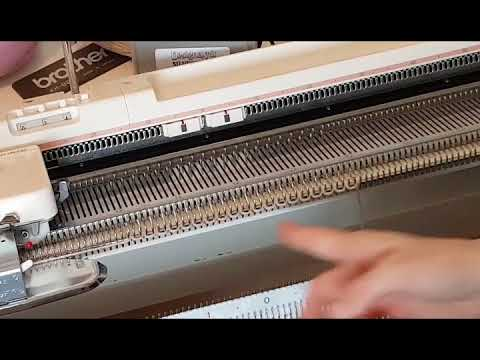 110370067d38 Comb Cast On for Knitting Machine - YouTube