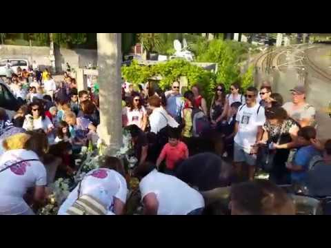 Homenaje a las víctimas del Alvia en Angrois