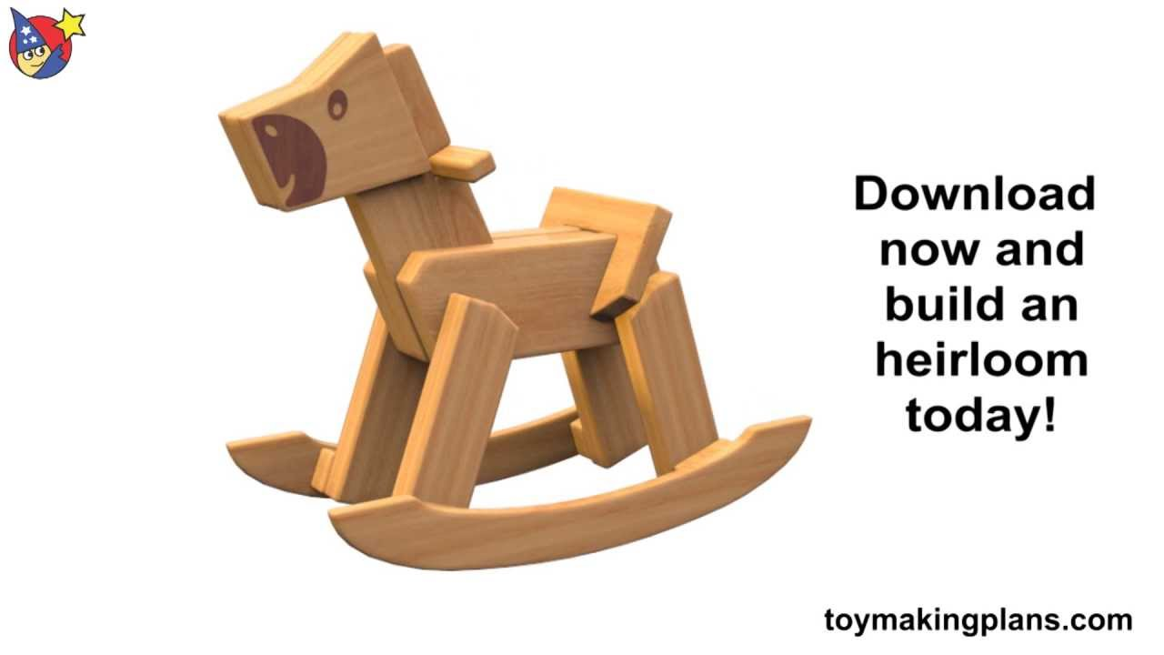 wood toy plan - classic rocking horse