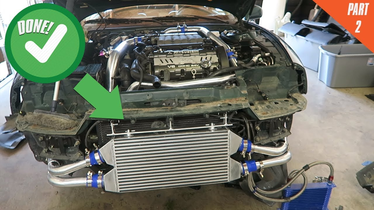 completing the intercooler install! mitsubishi 3000gt vr-4