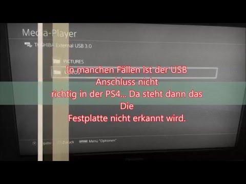 PS4 Videos von Externer Festplatte schauen