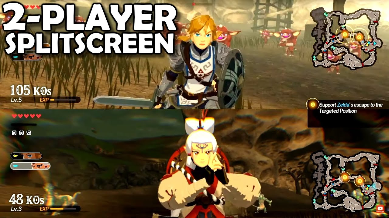 2 Player Split Screen First Look Hyrule Warriors Age Of Calamity Zelda Hw Aoc Youtube