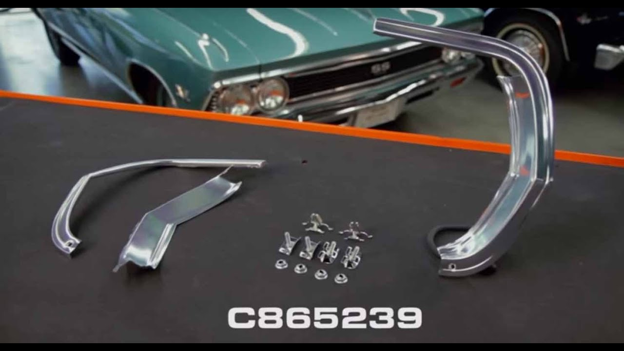 small resolution of opgi product spotlight 1965 chevelle el camino fender eyebrow moldings original parts group