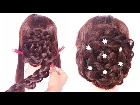 easy and beautiful hairstyle for thin hair   braided hairstyle   party hairstyle   latest hairstyle thumbnail