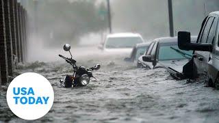 Hurricane Sally batters Pensacola Beach as it makes landfall Wednesday | USA TODAY