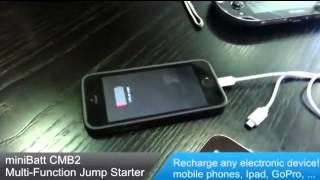 Cargador Baterías Moto Minibatt Arrancador Mini Batt Pocket 7.500 mAh