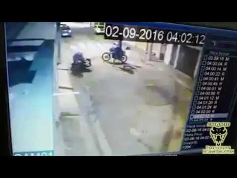 Armed Motorcyclist Makes Muggers Regret Their Choice of Victim | Active Self Protection