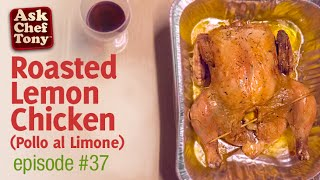 Roasted Lemon Chicken Recipe, Italian Home Cooking With Mom, How To Make It.