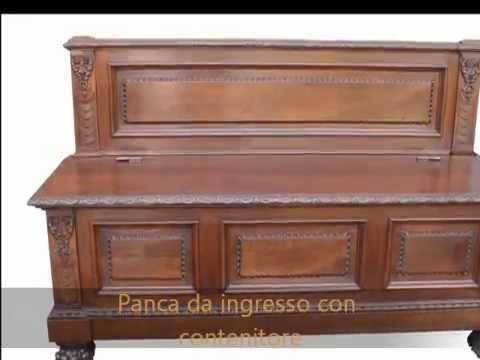 Panca Contenitore Legno : Panca cassapanca con contenitore di inizio restaurata youtube