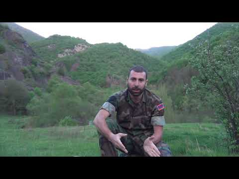 Armenians Volunteer From  Libanan In Karabakh. Армянский доброволец из Ливана в карабахе.