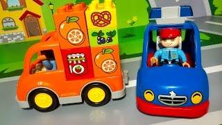 Мультики для детей про машинки. Рабочие грузовые машины. Полицейская машина. Мультфильмы 2016