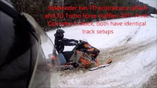 2017 Turbo Dynamics ECU reflash and TD muffler tuned Sidewinder destroys stock 2017 Turbo cat.
