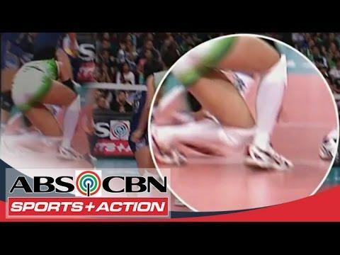 UAAP 77: Ara Galang suffers an injury