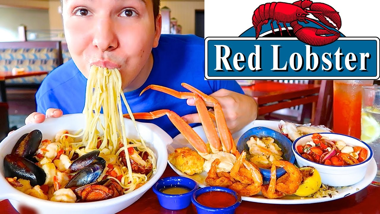 Red Lobster Ultimate Seafood Feast Mukbang Youtube