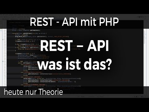 REST - API mit PHP #01 - Theorie