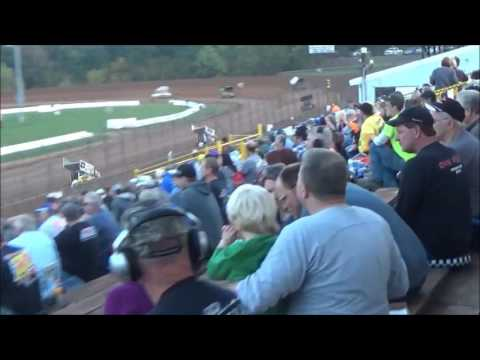 AJ Flick 410 Sprint Lernerville Speedway 2016 Steel City Stampede Weekend - Win #7!