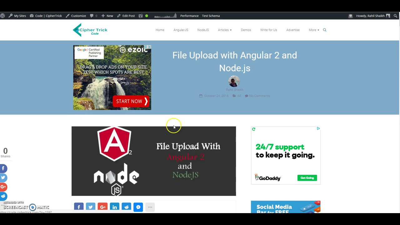 File Upload with Angular 2 and NodeJS
