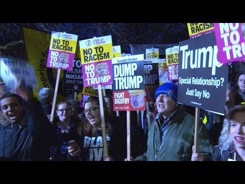 Protests break out over President Trump around the world