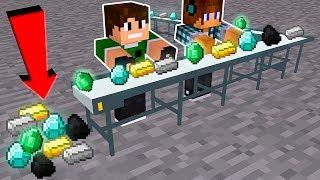 COMO FAZER UMA FÁBRICA DE MINÉRIOS INFINITA !!! - Minecraft Clones #6