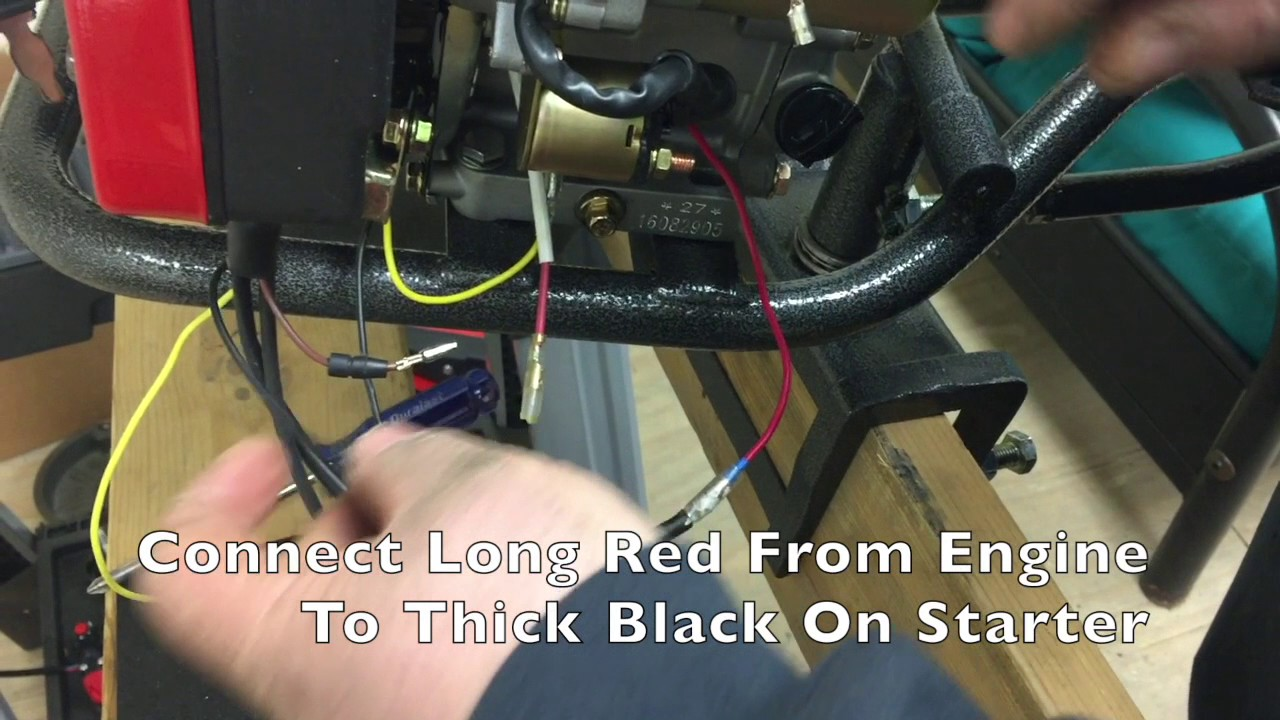 Electric Start Install On Lt210 Engine Youtube Marine Schematic Starter