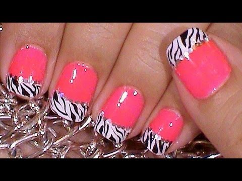 Unas Decoradas De Zebra Sencillas Y Rapidas Youtube