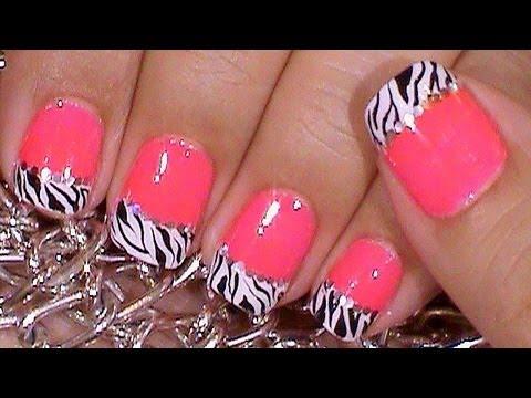 Uñas Decoradas De Zebra Sencillas Y Rapidas Youtube