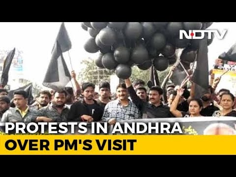 Protests By Chandrababu Naidu's Party Hit PM Modi's Andhra Campaign