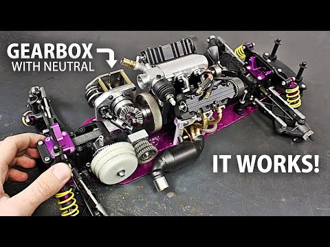 Making A DRIVETRAIN And Installing The Micro V4 ENGINE On The RC Car!