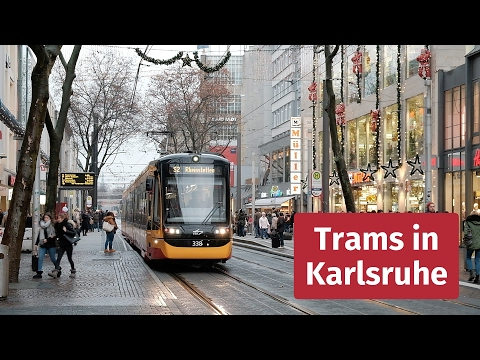 Tram And Light Rail In Karlsruhe, Germany