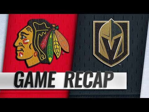 Golden Knights strike quickly in 3rd, down Blackhawks