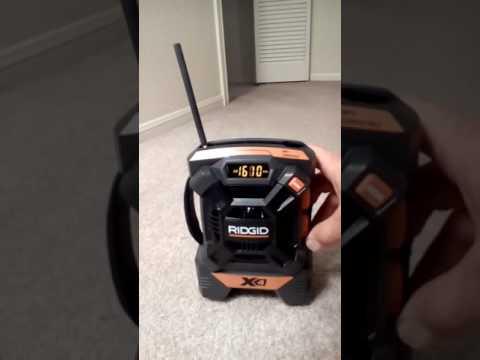 Ridgid X4 am fm aux radio R84084