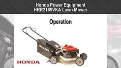 HRR2169VKA (K9 and later) Lawn Mower Operation